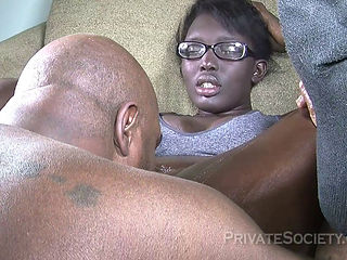Ebony Mature Squirting While Fucked
