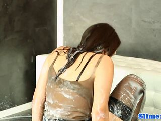 Classy Gloryhole Eurobabe Drenched In Jizz