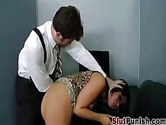 Slut Gets Taught At Work
