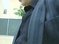 Pretty Russian schoolgirl fucked on a desk