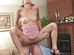 Keeps on his penis her pussy