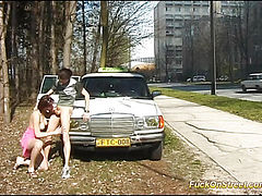 Fucked on the street and oral