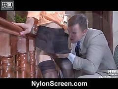 Sandy&Nicholas sexy nylon video
