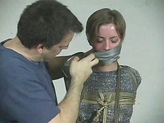 A compilation of gagged girls