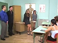 Mature Mother and Teacher Fucked By Two Amateur Students Anal
