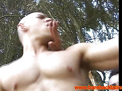 Bareback fun with two latino twinks