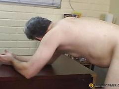 The girl slaps his man's body
