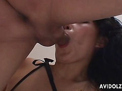 Naughty Ozawa Chris creampie and facial