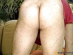 Woman crouching sucks dick with his man