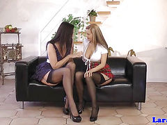 Busty eurobabes threeway with mature couple