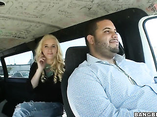 Blonde Julie J with phat ass is in sexual ecstasy with stiff schlong in her hands