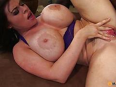 Her big tits guy cums