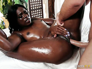 Ana Foxxx getting mouth banged by Keiran Lees rock hard man meat