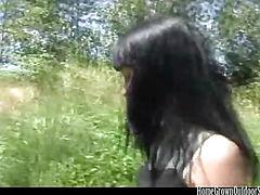 Juliette Black Deep Throating Outdoor Dick