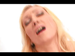 Blonde mom Betty moans loudly as her ass gapes wide.