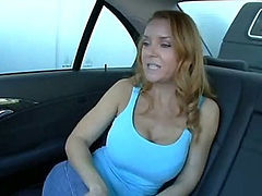 Milf redhead fucked in the car