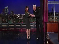 Here is a video of Salma Hayek from her Late Show with David Letterman appearance looking hot while showing massive cleavage and amazing booty in some sexy tight dress.
