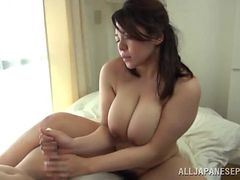 Horny chubby with big tits enjoying getting penetrated hardcore doggy style