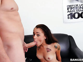 Brunette with juicy booty and clean bush cant wait to be pounded in the ass by her hot fuck buddy