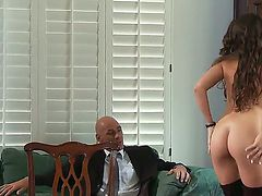 Teen Teal Conrad cant resist the temptation to take Johnny Sinss throbbing snake in her fuck hole