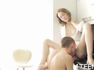 Impressive hunk had a time taming beauty's unshaved snatch