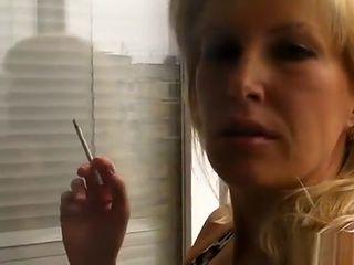smoking on the balcony