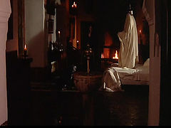 Bo Derek naked underneath a guy as they have sex in this long love scene.From Bolero.