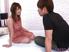 Beautiful japanese model Mei Aso facialized