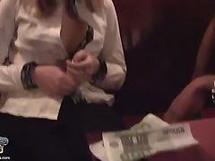 Public blowjob from hot blonde
