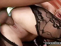 Cock Crammed Stockings Babe