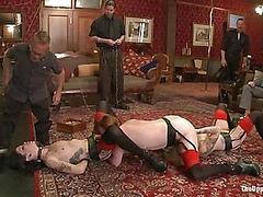 The House slaves Showcase their Foot Job Skills