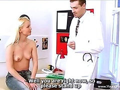 Horny blonde at police station fucking hard