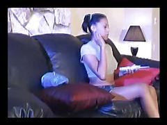 young dark skin asian hottie losing a lot of saliva when she sucking dick