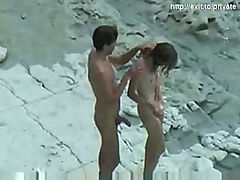 Nude Beach sex Hot amateur couple