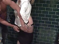 Pick up girl enjoys hard sex