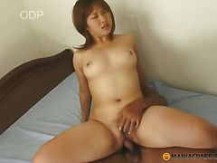 Asian babe gets fucked with a man