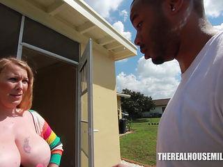 Cheating Housewife Seducing A Black Man