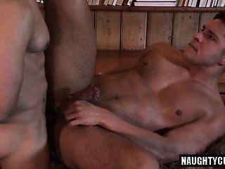 Brunette son anal sex with facial