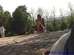 Nude pussy flashing