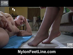Rebecca&Nicholas nylon footsex movie