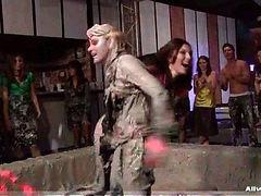 Mud Pit Wrestling