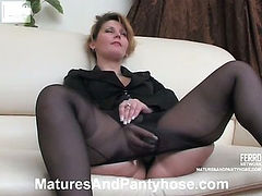 Paulina&Adrian mature pantyhose action