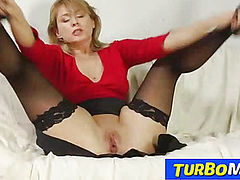 Russian milf Alina old young sex