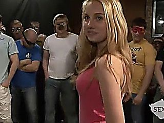 Gorgeous Blonde College Teen Fucks Everyone At Once