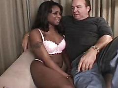 Black bitch sucks white dick