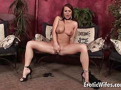 big meloned brunette wife
