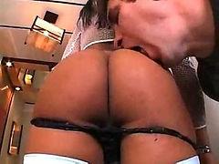 Anal sex with Brazilian shemale slut