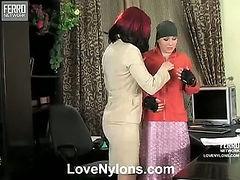 Gwendolen&Ira horny nylon movie