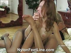 Emilia&Nora nylon footsex movie