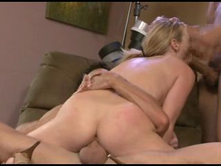 Hot Blonde Babe Rides A Giant Dick Like A Boss